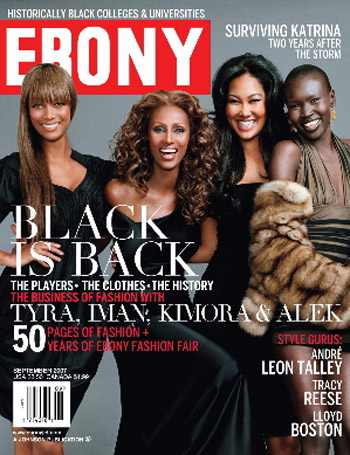Tyra, Iman, Alek, Kimora for Ebony Magazine September 2007