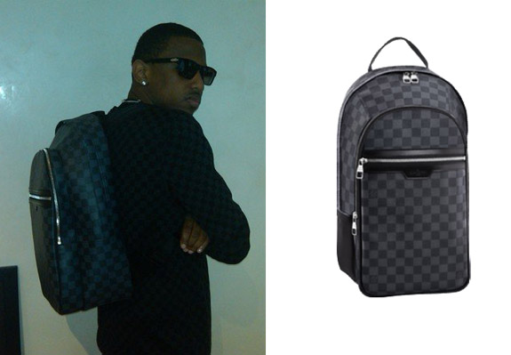 ffeb737949 Men's Fashion Flash: Fabolous' Louis Vuitton Damier Backpack ...