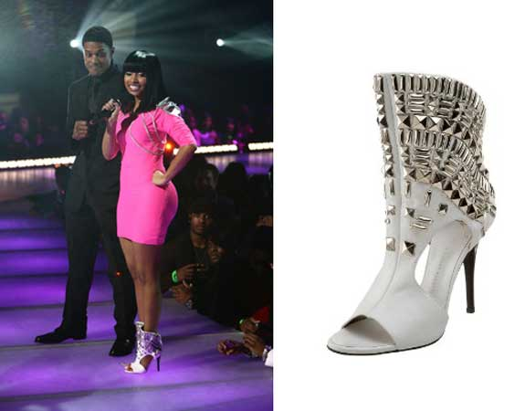 Nicki Minaj Giuseppe Zanotti Shoes Rip the Runway BET