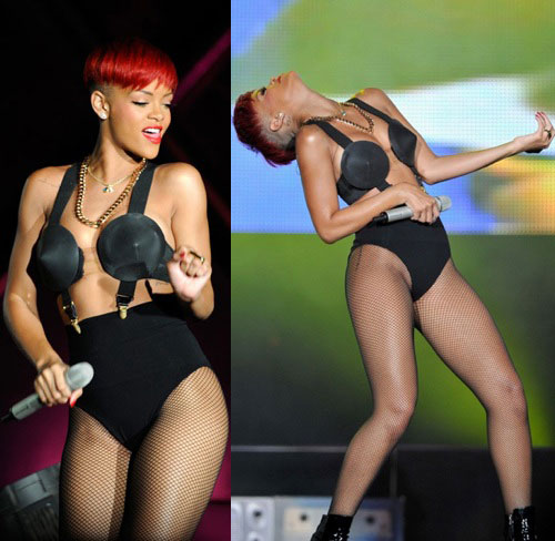 rihanna red hair. She debuted the new hair at