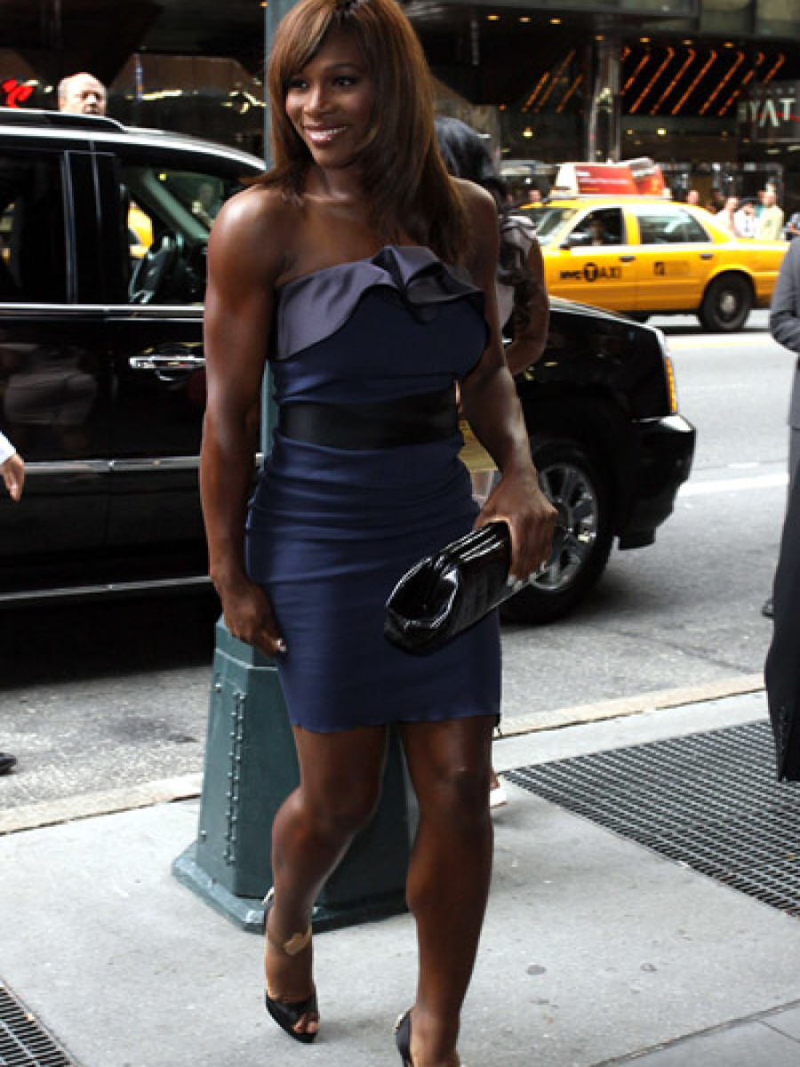 Serena Williams at La La Vasquez and Carmelo Anthony wedding