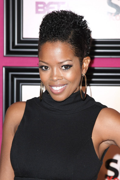 Actress Malinda Williams hit the scene with some cute curls in her short 'do
