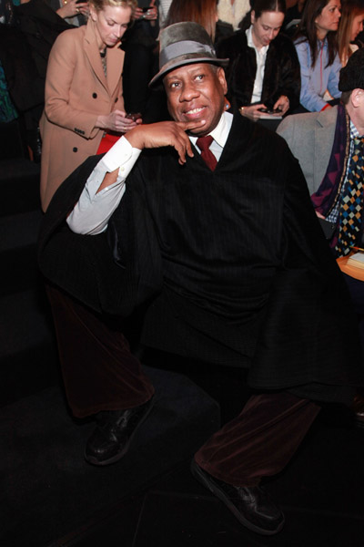 Vogue's American editor-at-large Andre Leon Talley attends the Ralph Lauren Fall 2011 fashion show