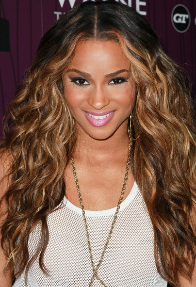 Curly Hair Middle Part Layered Hairstyles