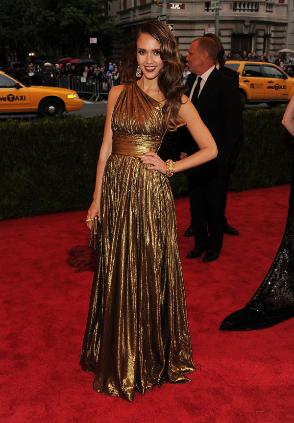 Jessica Alba Met Ball costume institute 2012 michael kors