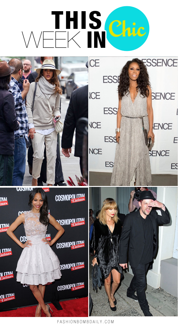 Week in Chic Zoe Saldana Nicole Richie Jessica Alba June Ambrose