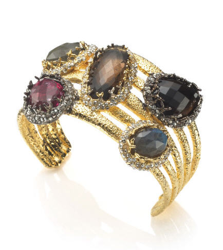 alexis-bittar-fall-2012-elements-collection-siyabona-multi-stone-smoky-quartz-cuff