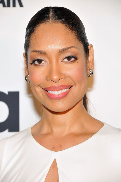 gina torres a suits story event new york city roberto cavalli slit neck gown 1 Hot! or Hmm… Gina Torres's A Suits Story Event Roberto Cavalli Ivory Slit Neck Gown