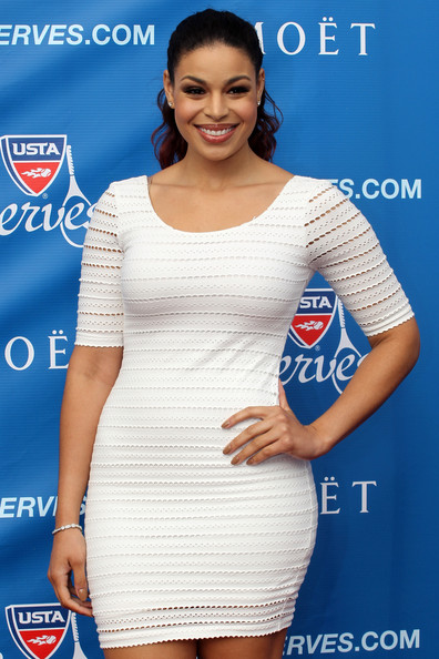 In Get the Look: Jordin Sparks's US Open 2012 Opening Day Bebe Knit Eyelet ...