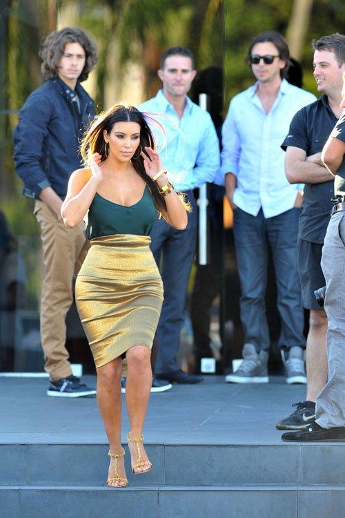 Kim Kardashian Miami Donna Karan Skirt Fashion Bomb Daily Style