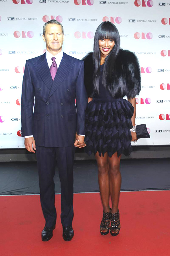 Vladislav Doronin and Naomi Campbell at a gala evening in Moscow