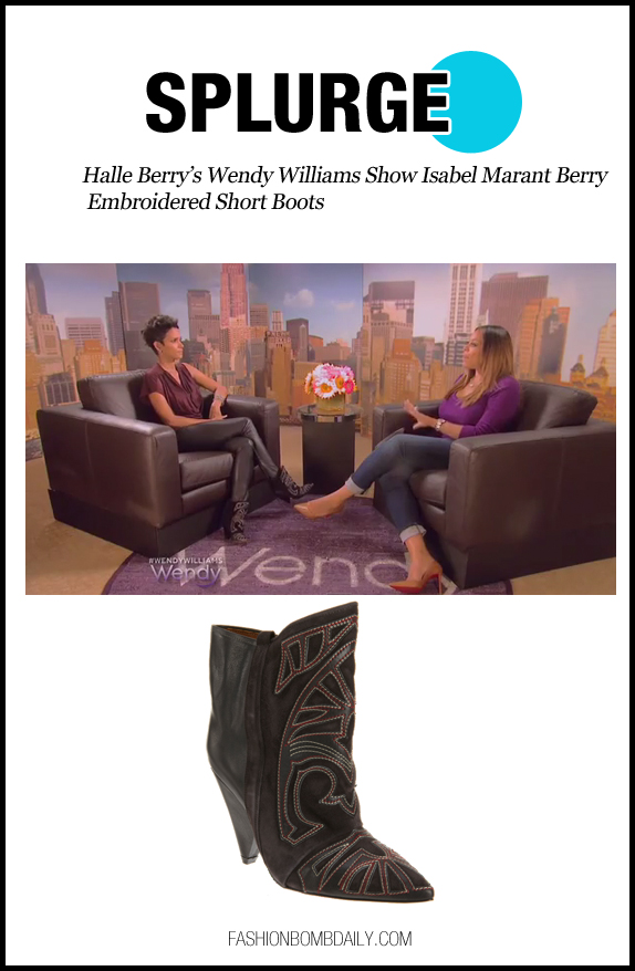 Splurge-110512-Halle Berry's Wendy Williams Show Isabel Marant Berry Embroidered Short Boots