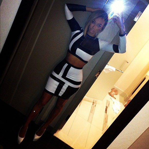 draya michele queen russia black and white party look