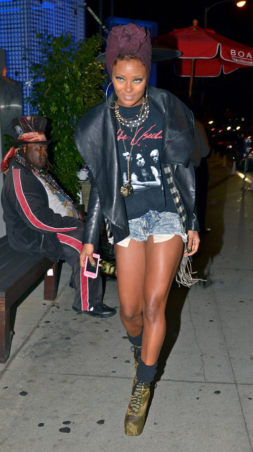 Mail Bombs  Eva Marcille s BOA Steakhouse EJ King Leather Jacket ... a163a57a2de0