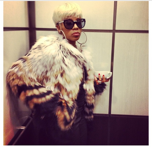 Keyshia Cole's 97.9 The Beat Theory Cassius Tersk Fur Jacket Keyshia-Cole-radio