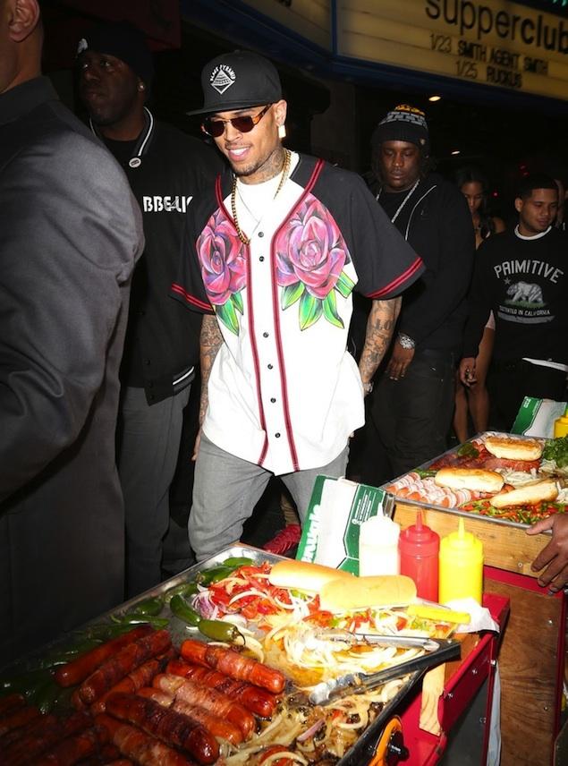 Chris Brown's Supper Club Custom Yeah Lano Hand Painted Rose Jersey