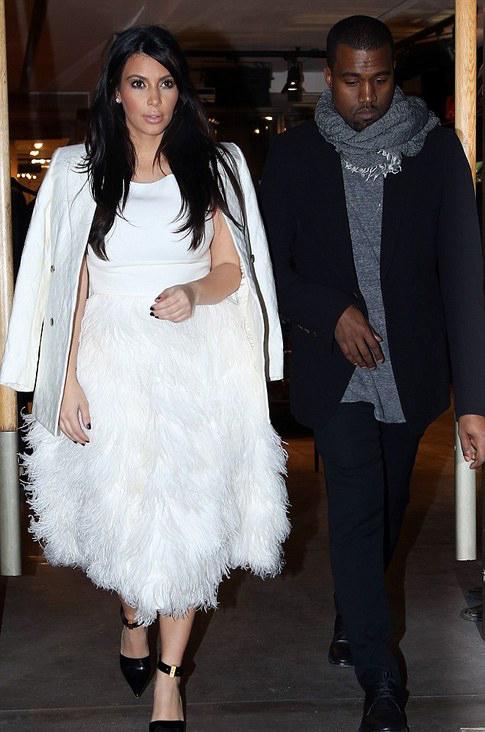 Splurge-Kim-Kardashians-Paris-JCrew-Feather-tail-dress