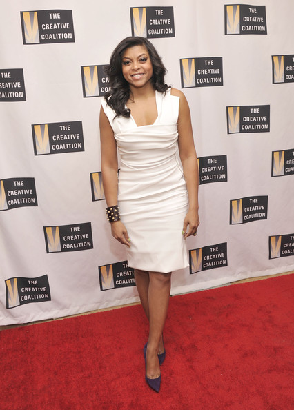 taraji-p-henson-the-creative-coalitions-2013-inaugural-ball-washington-dc-preen-morgan-dress-manolo-blahnik-suede-bb-pumps-2