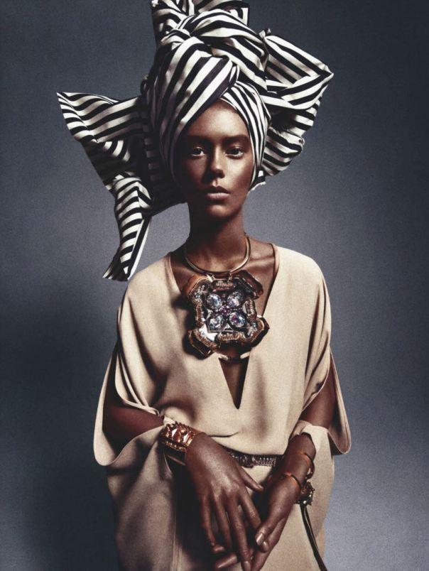 05 Ondria Hardin for Numéro #141 March 2013 in African Queen