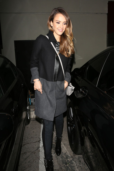 jessica-alba-matsushisa-restaurant-los-angeles-gerard-darel-coat-rag-and-bone-the-hyde-jeans-christian-louboutin-troop-buckle-boots-michael-michael-kors-summer-2013-selma-crossbody-bag