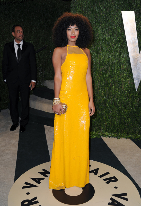 solange knowles vanity fair oscar after party