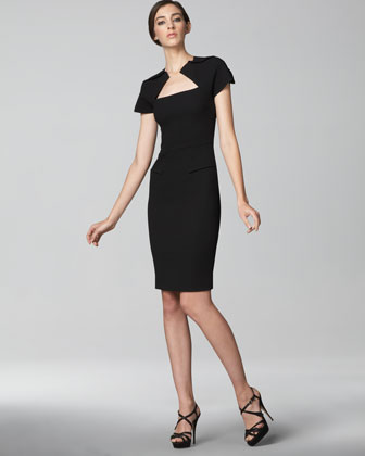 toni braxton extra roland mouret sheath dress black