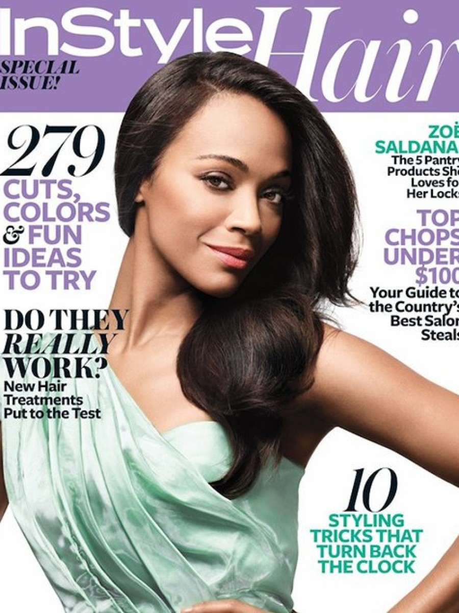 Zoe Saldana for InStyle's Annual Hair Issue