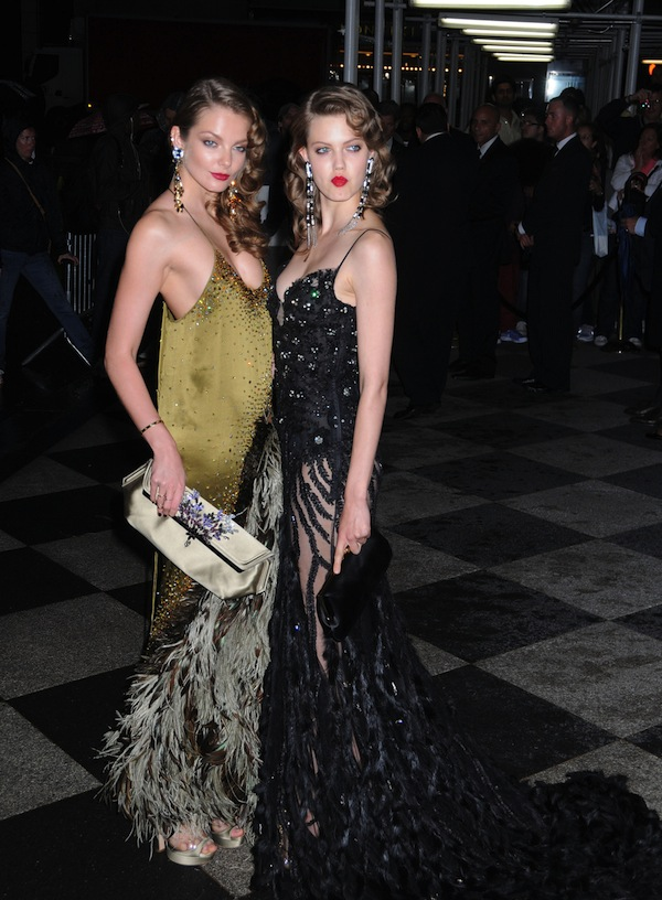 Eniko Mihalik and Lindsey Wixson at the 4th Annual Amfar Inspiration Gala at the Plaza Hotel in New York City