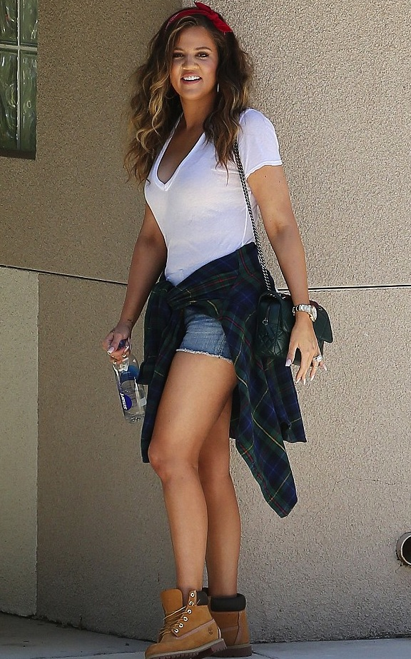 Wearing Timberland Boots With Shorts When did she wear it better?