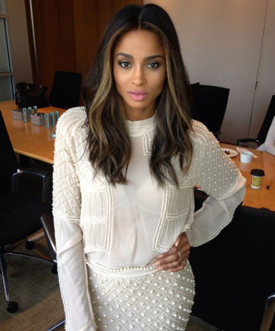 Ciara-Instragram-Zara-Embroidered-Top-and-skirt