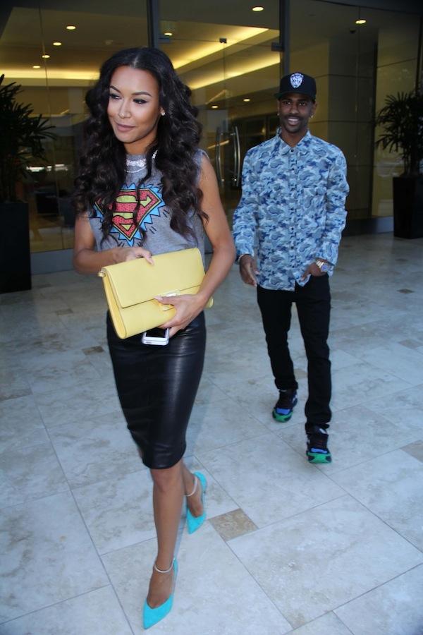 Naya Rivera and Big Sean spotted leaving Power 106 Radio Station