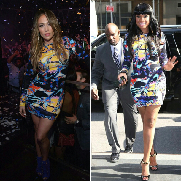 Jennifer-Lopez-vs-Jennifer-Hudson-in-Christopher-Kane-Brain-Scan-Printed-Jersey-Dress