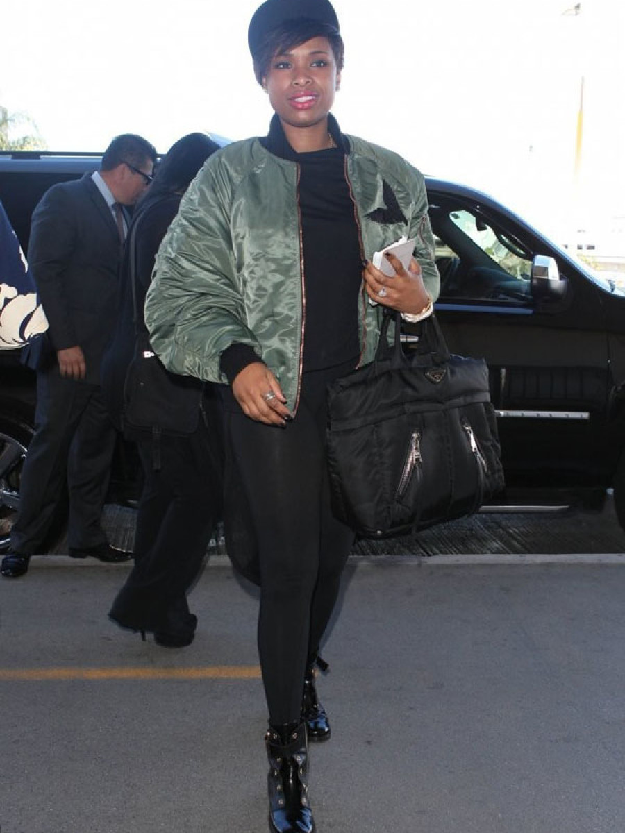 Jennifer-Hudson-Juun-j-Flight-Bomber-Jacket-Prada-Bomber-Bag
