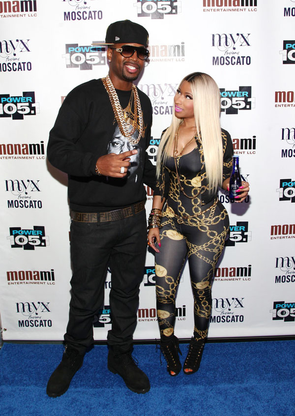 Nicki-Minaj-Power-105-1-Powerhouse-2013-Giuseppe-Zanotti-Booties-Minaj-Collection-Jumpsuit