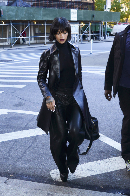 Rihanna-new-york-city-rihanna-for-river-island-bodysuit-balmain-leather-pants