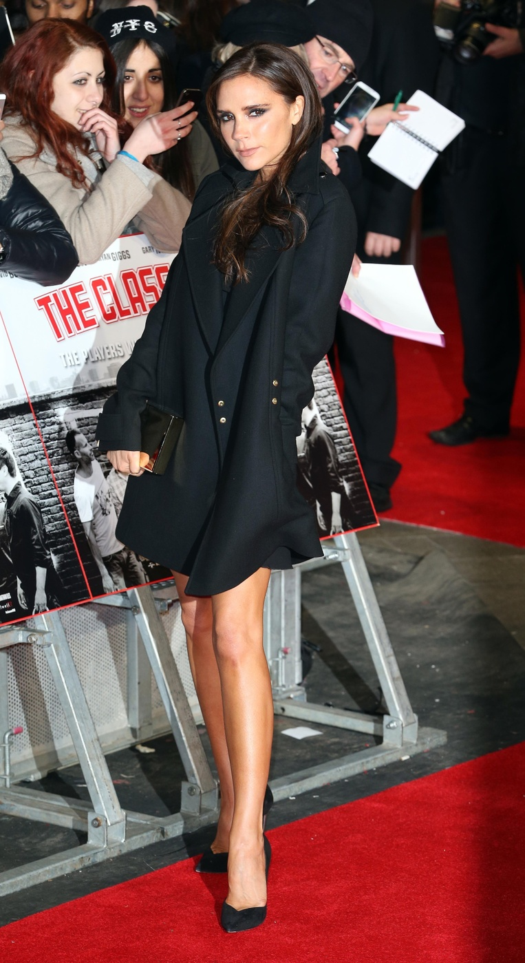 Victoria Beckham attends The World Premiere of 'The Class of 92' at The Odeon West End in London