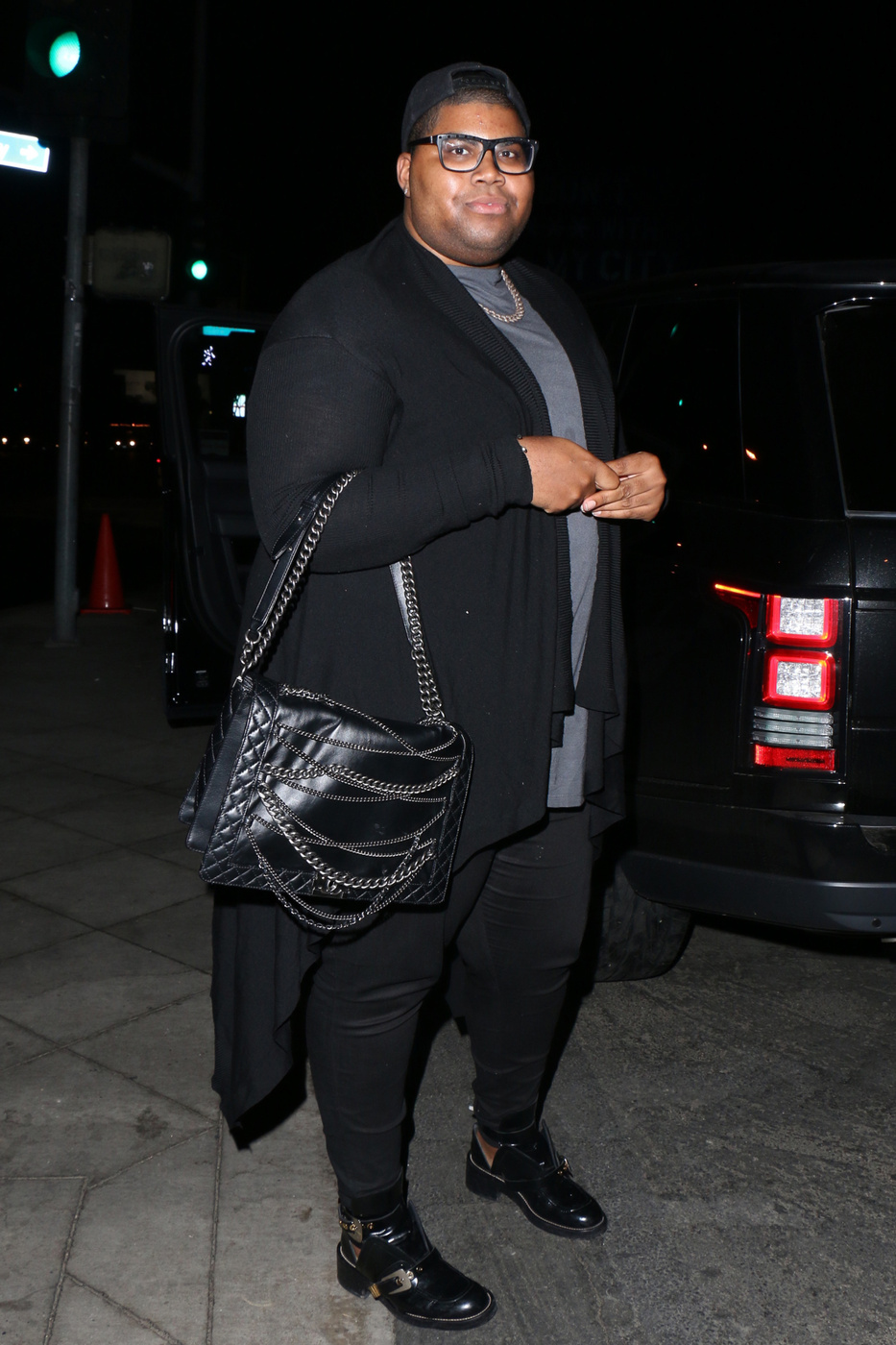Earvin Johnson III, known as E.J seen leaving the Pink Taco in Los Angeles