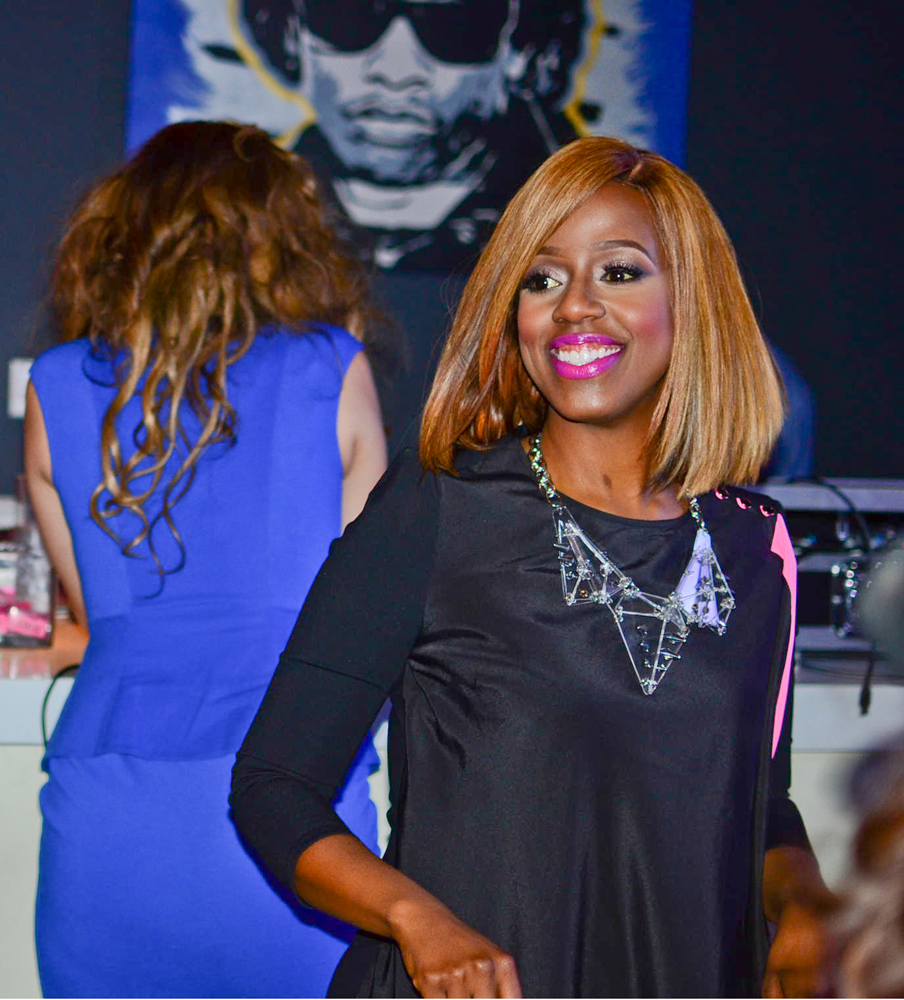 Daisy Lewellyn Celebrates At The Viewing Party Of Blood, Sweat & Heels