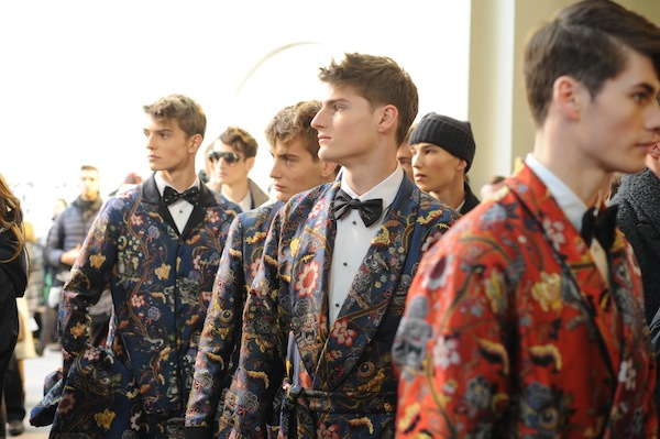 Tinie Tempah's Louis Vuitton Mens Fall 2014 Show Chapman Brothers x Louis Vuitton Floral Embroidered Blazer