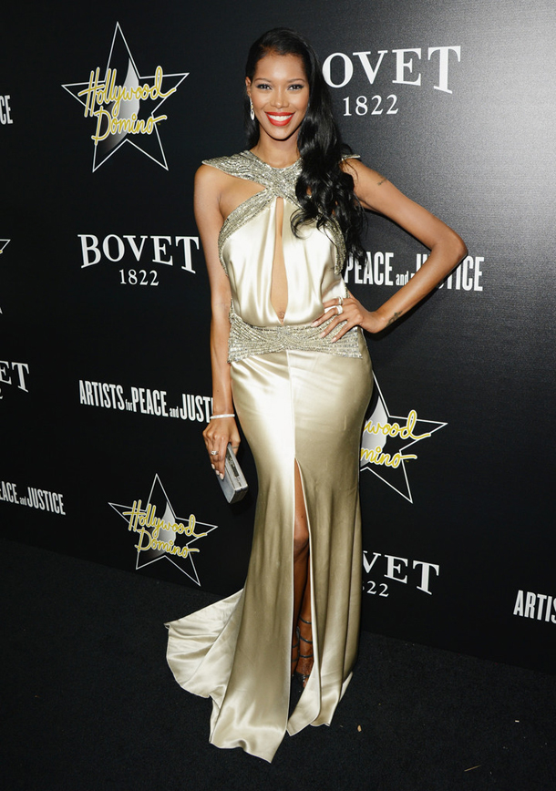 Jessica-White-Johanna-Johnson-Spring-2014-The-Lovers-Knot-Slit-Front-Embellished-Dress