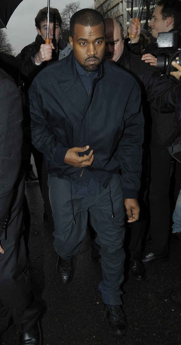 Kanye West attended the Balenciaga show as part of the Paris Fashion Week Womenswear Fall/Winter 2014-2015 in Paris