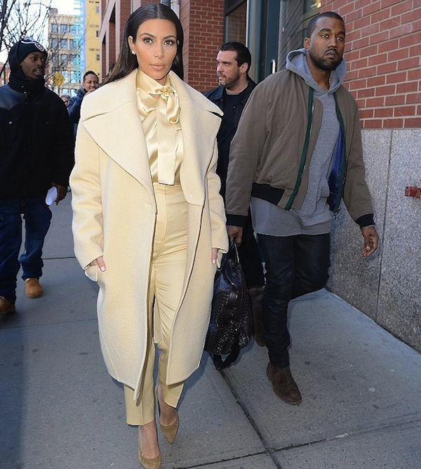 Kim Kardashian and Kanye West were papped stepping out in New York City