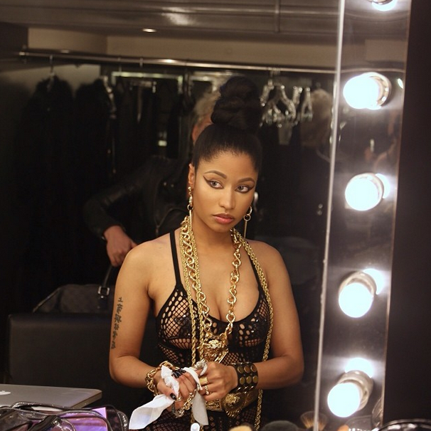 0d72d00b9444e Found: Nicki Minaj's Instagram Bristol 6 Black Peacock One Piece ...