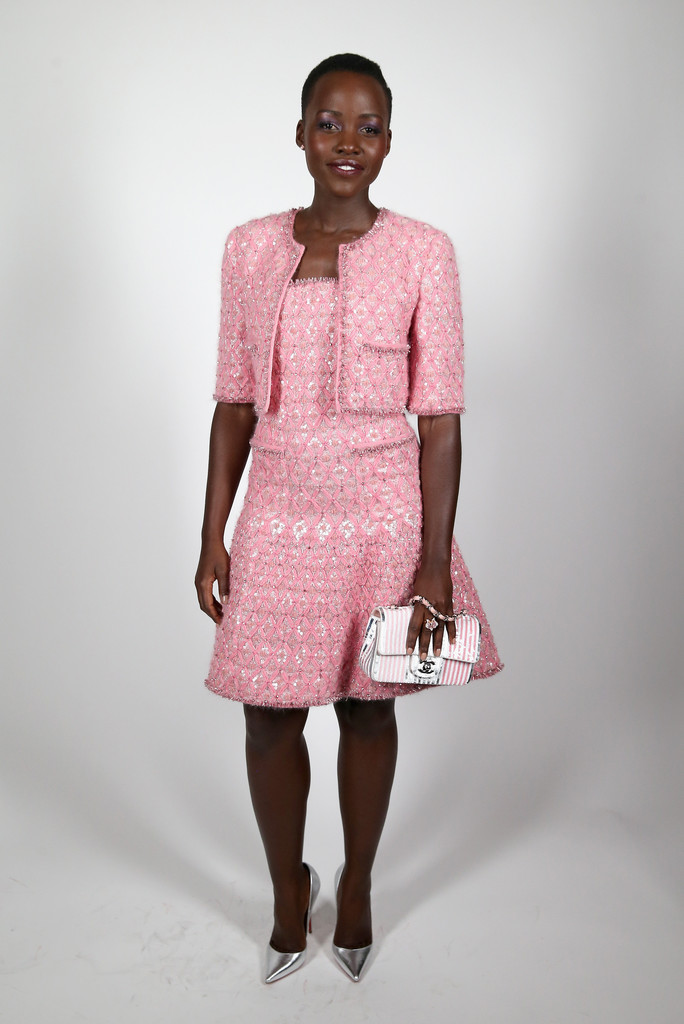 lupita-nyongo-chanel-pre-bafta-party-chanel-fall-2012-couture-jacket-dress-bag-christian-louboutin-pumps
