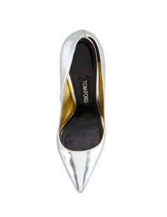 tom ford mirrored pointy toe pumps