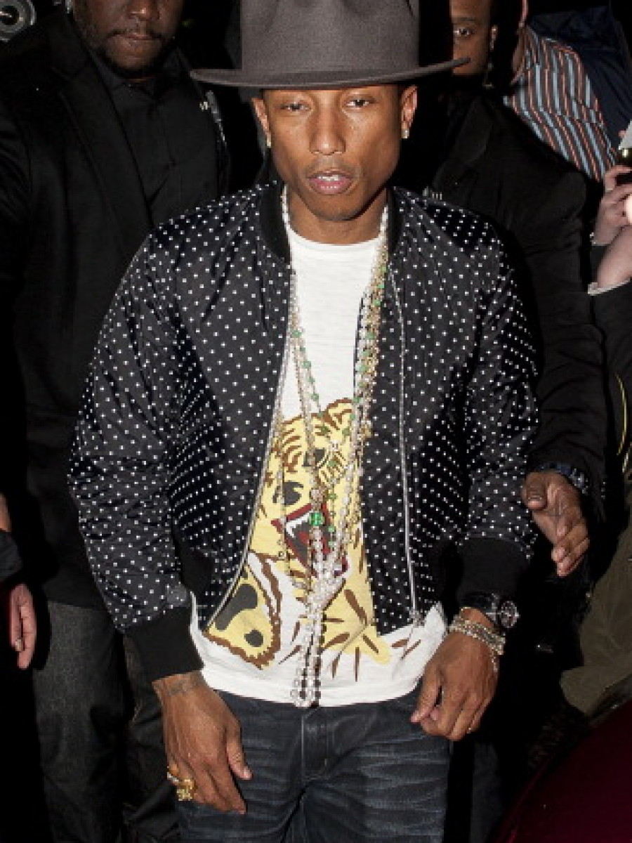 Pharrell Williams Seen At The BRIT Awards In London – February 19,2014