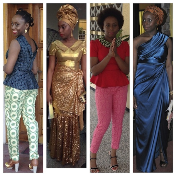 Chimamanda Ngozi Adichie from lago for fashion bomb daily