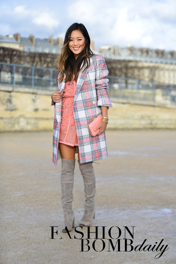 aimee-song-of-style-paris-fall-2014-fashion-week-plaid-coat-pastel