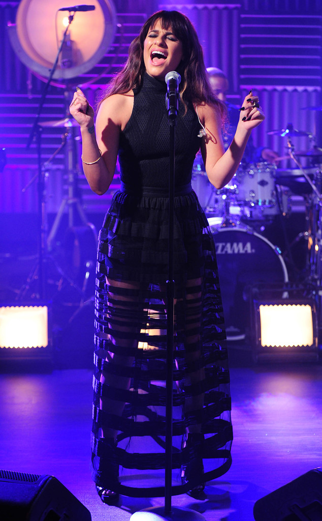 Lea Michele  Performs on VH1's Big Morning Buzz Live