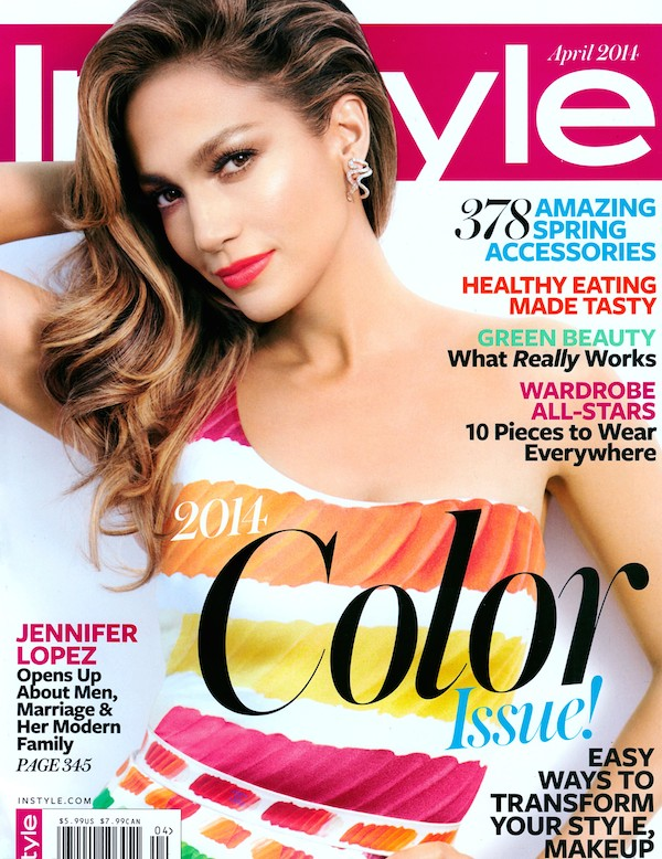 jennifer lopez for in style april 2014